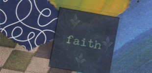 Collaged Words: Faith
