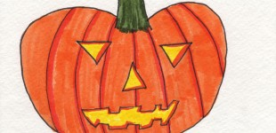 Doodle Week: Pumpkin Jack-o-Lantern