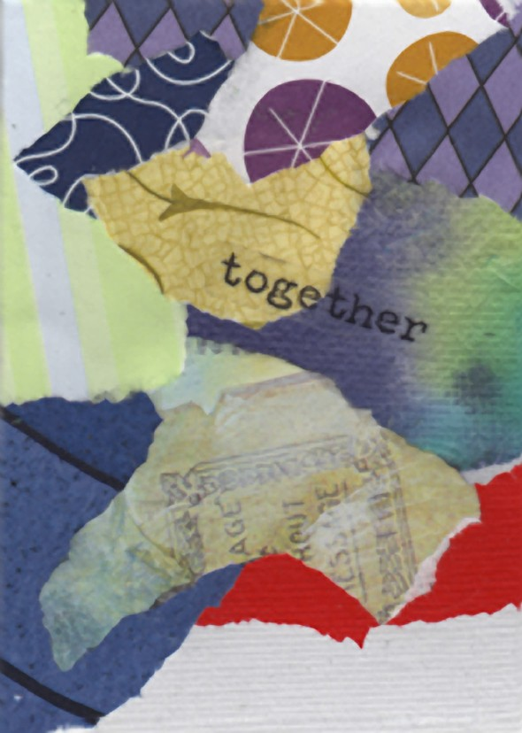 Collaged Words: Together